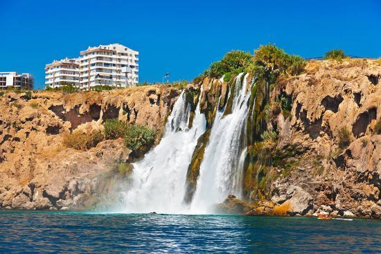 Waterfall Duden at Antalya Turkey - Nature Travel Background-Nik_Sorokin-Photographic Print