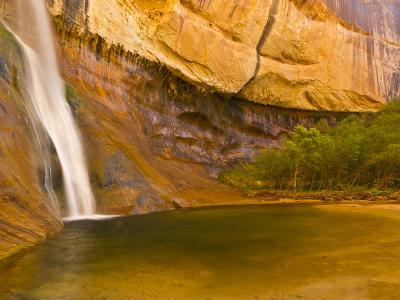 Waterfall, Grand Staircase Escalante National Monument, Utah, USA-Jay O'brien-Photographic Print