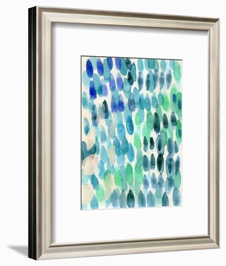 Waterfall I-Linda Woods-Framed Art Print