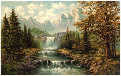 Waterfall II-Ada & Kris-Art Print