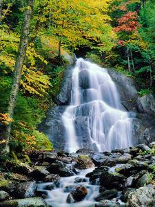 Waterfall in a forest, Moss Glen Falls, 3873 Route 100, Granville Reservation State Park, Granvi...