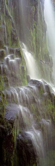 Waterfall in a Forest, Proxy Falls, Three Sisters Wilderness Area, Willamette National Forest, L...--Photographic Print