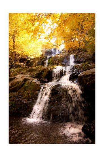Waterfall in Autumn-Lantern Press-Art Print