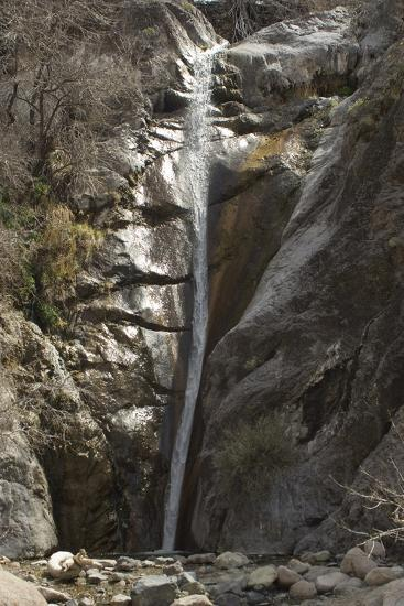 Waterfall in Fillmore Canyon of the Organ Mountains, Southern New Mexico--Photographic Print