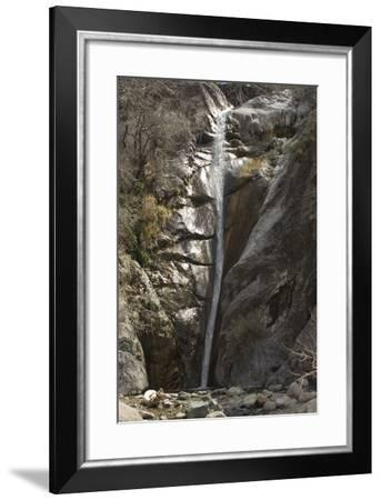Waterfall in Fillmore Canyon of the Organ Mountains, Southern New Mexico--Framed Photographic Print