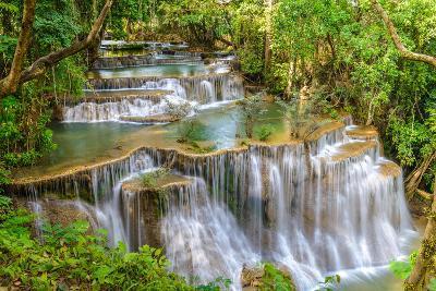 Waterfall in Kanchanaburi Province, Thailand-Pongphan Ruengchai-Photographic Print
