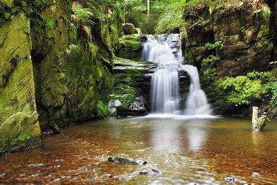 Waterfall in Resov in Moravia, Czech Republic-TTstudio-Photographic Print