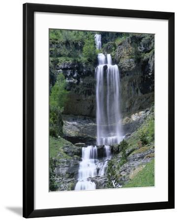 Waterfall in the Ordesa Valley, Ordesa National Park, Huesca, Pyrenees, Aragon, Spain-Ruth Tomlinson-Framed Photographic Print
