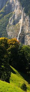 Waterfall, Lauterbrunnen Valley, Wengen, Lauterbrunnen, Interlaken-Oberhasli, Bernese Oberland