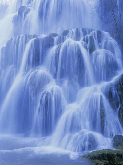 Waterfall, Les Messieurs, Jura-Baume, Franche-Comte, France, Europe-Bruno Morandi-Photographic Print