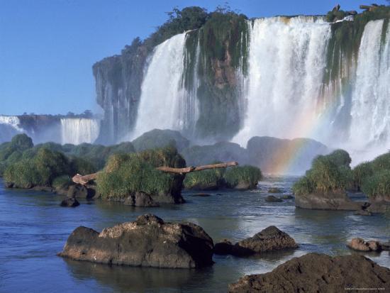 Waterfall Named Iguassu Falls, Formerly Known as Santa Maria Falls, on the Brazil Argentina Border-Paul Schutzer-Photographic Print