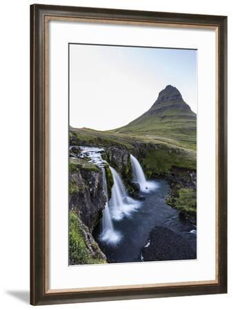 Waterfall Near Kirkjufell (Church Mountain)-Michael Nolan-Framed Photographic Print