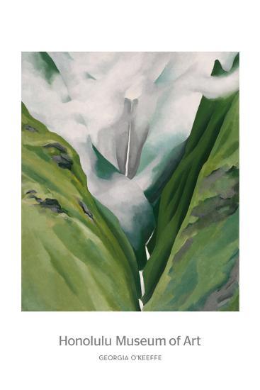 Waterfall No. 3, 'Iao Valley-Georgia O'Keeffe-Art Print