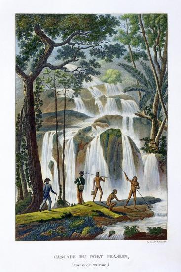 Waterfall of Port Praslin, New Ireland, 19th century-Unknown-Giclee Print