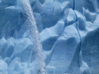 Waterfall on Glacier on Spitsbergen-Hans Strand-Photographic Print