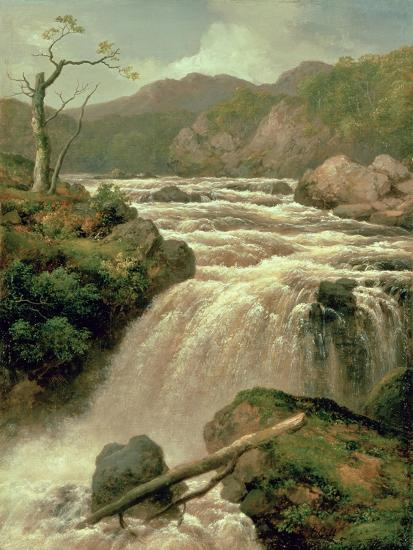 Waterfall on River Neath, South Wales-James Burrell Smith-Giclee Print