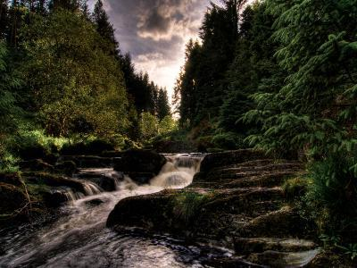 Waterfall, River Severn, Hafren Forest, Wales-Clive Nolan-Photographic Print