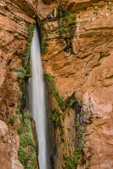 Waterfall. Tributary to Colorado River. Grand Canyon. Arizona. USA-Tom Norring-Photographic Print