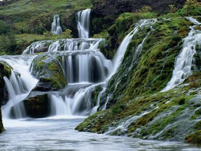 Waterfalls at Gjainfossar-Hubert Stadler-Photographic Print
