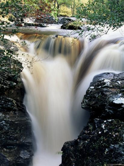 Waterfalls on Dundonnell River, Wester Ross, Highland Region, Scotland, United Kingdom-Neale Clarke-Photographic Print