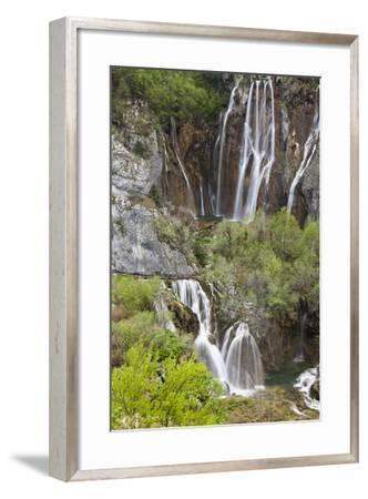 Waterfalls, the Big Fall (Veliki Slap), Plitvice Lakes, Plitvicka Jezera, Croatia-Martin Zwick-Framed Photographic Print