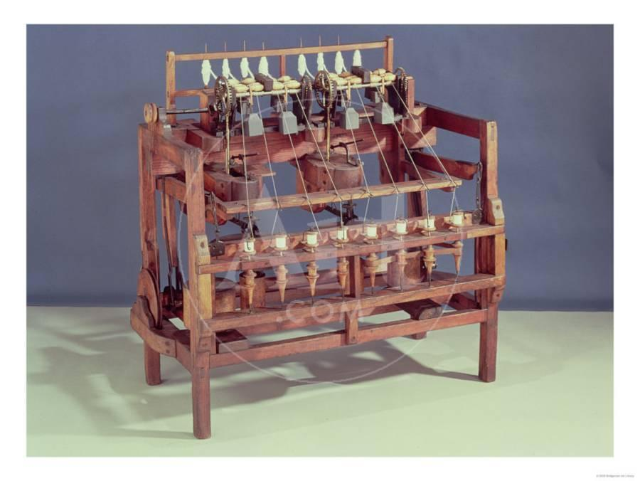 Waterframe\' Spinning Frame Designed by Sir Richard Arkwright 18th ...