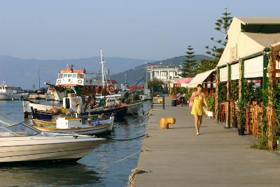 Waterfront at Sami, Kefalonia, Greece-Peter Thompson-Photographic Print