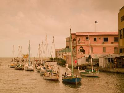 Waterfront Canal, Belize City, Belize-Stuart Westmoreland-Photographic Print