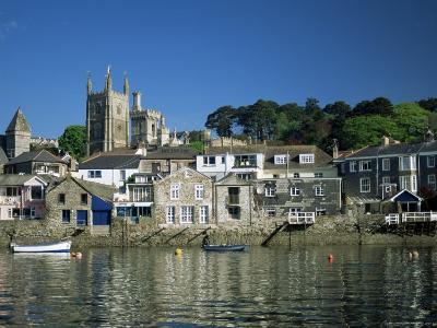 Waterfront, Fowey, Cornwall, England, United Kingdom-Julia Bayne-Photographic Print