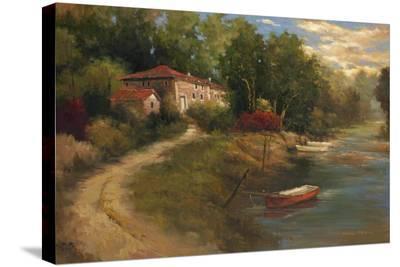 Waterfront Mediterranean Villa-Kanayo Ede-Stretched Canvas Print