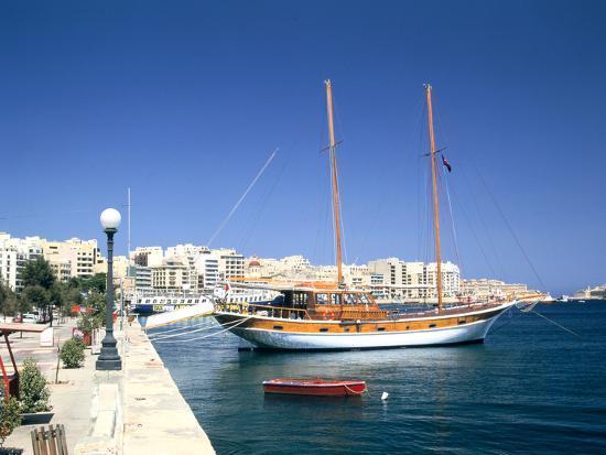 Waterfront of Sliema, Malta-Peter Thompson-Photographic Print