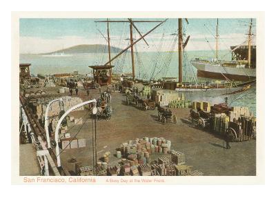 Waterfront Scene, San Francisco, California--Art Print