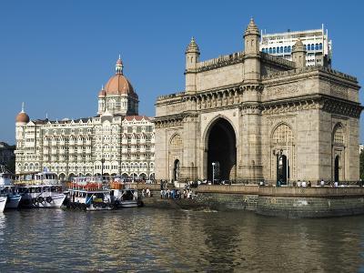 Waterfront with Taj Mahal Palace and Tower Hotel and Gateway of India, Mumbai (Bombay), India-Stuart Black-Photographic Print