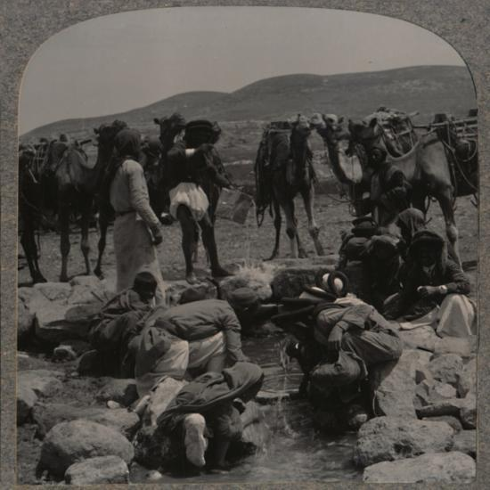 'Watering camels at Jacob's Well', c1900-Unknown-Photographic Print