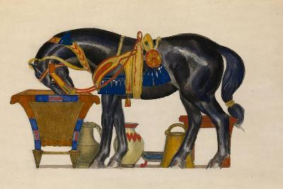 Watering Horse-L?on Bakst-Giclee Print