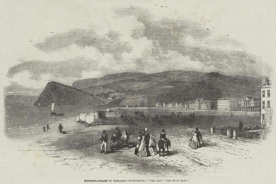 Watering-Places of England, Teignmouth, The Den-Myles Birket Foster-Giclee Print