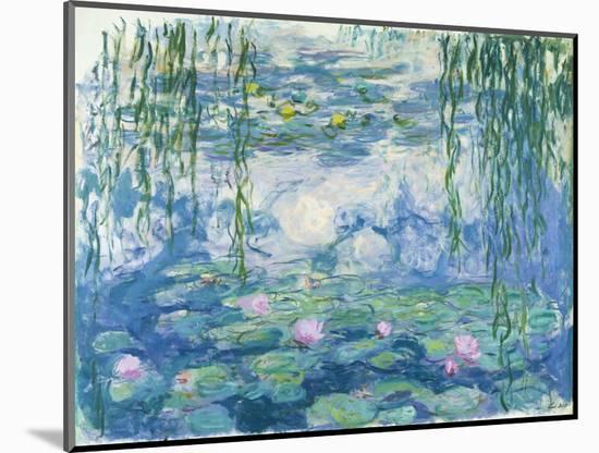 Waterlilies, 1916-19-Claude Monet-Mounted Premium Giclee Print