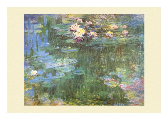Waterlilies, 1918-Claude Monet-Art Print