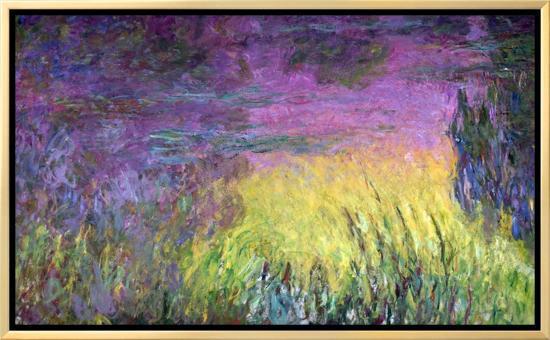 Waterlilies at Sunset, 1915-26-Claude Monet-Framed Canvas Print
