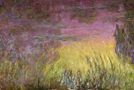 Waterlilies at Sunset, 1915-26-Claude Monet-Giclee Print