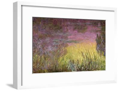 Waterlilies at Sunset, 1915-26-Claude Monet-Framed Giclee Print