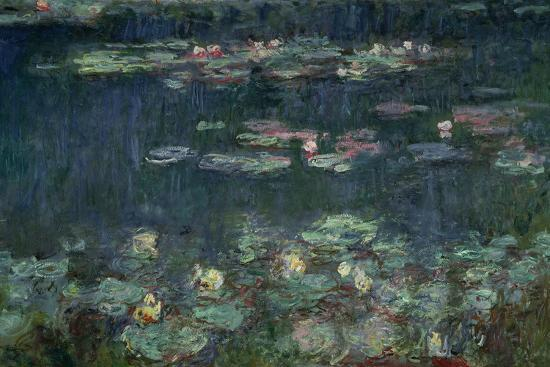 Waterlilies: Green Reflections, 1914-18 (Right Section)-Claude Monet-Giclee Print