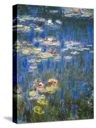 Waterlilies: Green Reflections-Claude Monet-Stretched Canvas Print