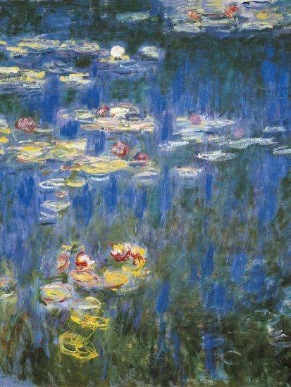 Waterlilies Green Reflections Art Print By Claude Monet