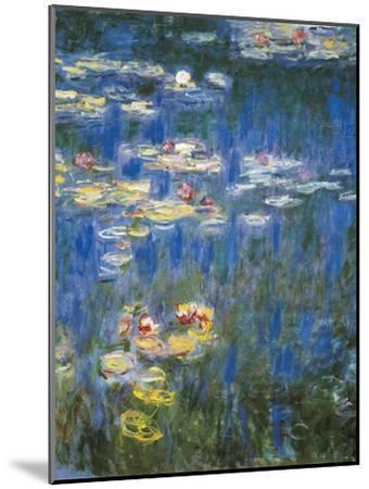 Waterlilies: Green Reflections-Claude Monet-Mounted Art Print