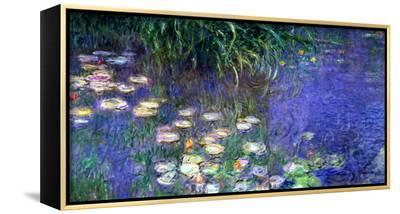 Waterlilies (Les Nympheas), Study of the Morning Water-Claude Monet-Framed Canvas Print