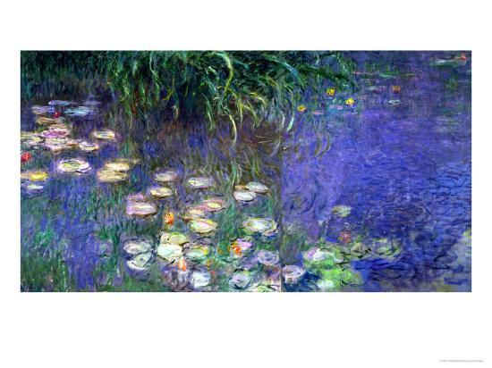 Waterlilies (Les Nympheas), Study of the Morning Water-Claude Monet-Giclee Print