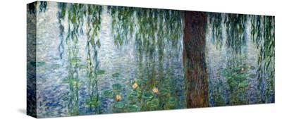 Waterlilies: Morning with Weeping Willows, Detail of the Left Section, 1915-26-Claude Monet-Stretched Canvas Print