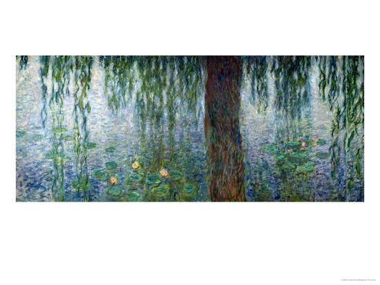 Waterlilies: Morning with Weeping Willows, Detail of the Left Section, 1915-26-Claude Monet-Giclee Print