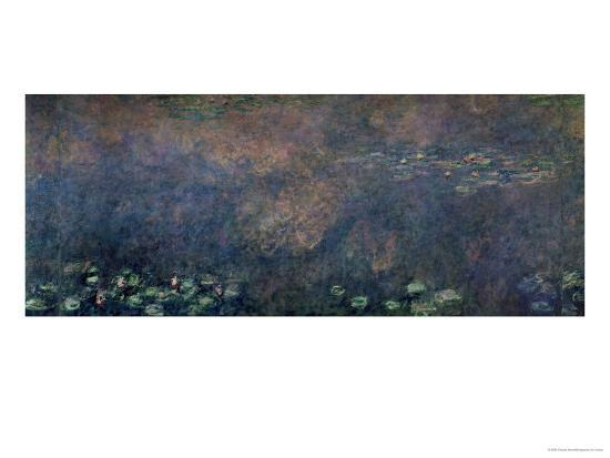 Waterlilies: Two Weeping Willows, Centre Left Section, 1914-18-Claude Monet-Giclee Print